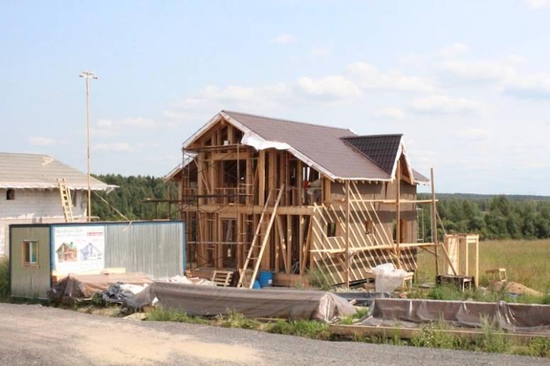 Строительство на участках Коттеджного поселка