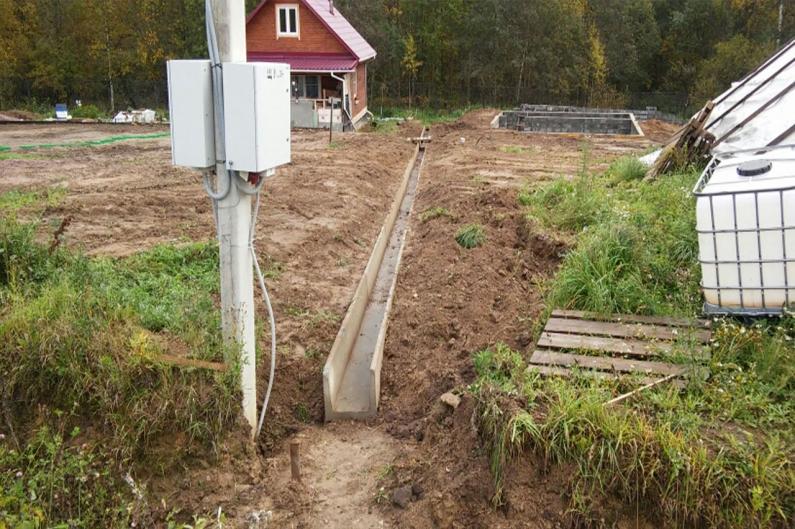 Работы по организации ливневого водоотведения и обустройства дренажа